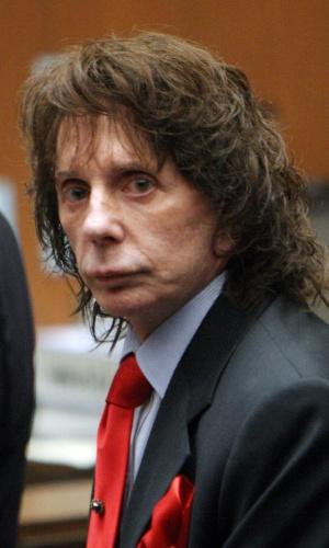 13.abr.2009 - Phil Spector em seu julgamento pelo assassinato da atriz Lana Clarkson