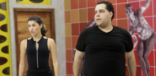 """Tiago Abravanel e Ana Paula Guedes em ensaio da """"Dança dos Famosos"""""""