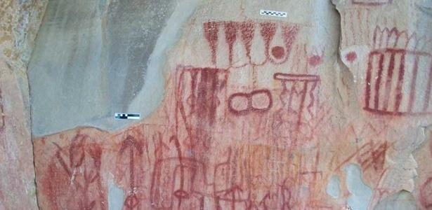 """As imagens, que representam pessoas, animais e insetos,  documentam a presença de povos pré-hispânicos em uma região onde """"antes se dizia não existir nada"""""""