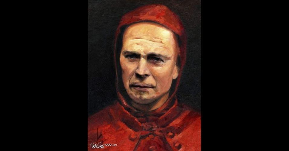 Na imagem, o ator Bruce Willis. O site Worth 1000 reúne imagens de celebridades que foram transformadas em pinturas do período renascentista (século 14) usando editores de imagens