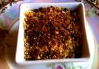 Tortinha de Purê de Batata com Lascas de Frango, Cenoura e Baru