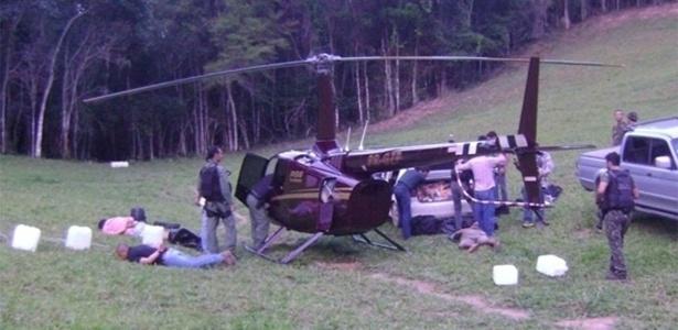 Helicóptero da Limeira Agropecuária, do deputado Gustavo Perrella (SDD), é apreendido com cocaína