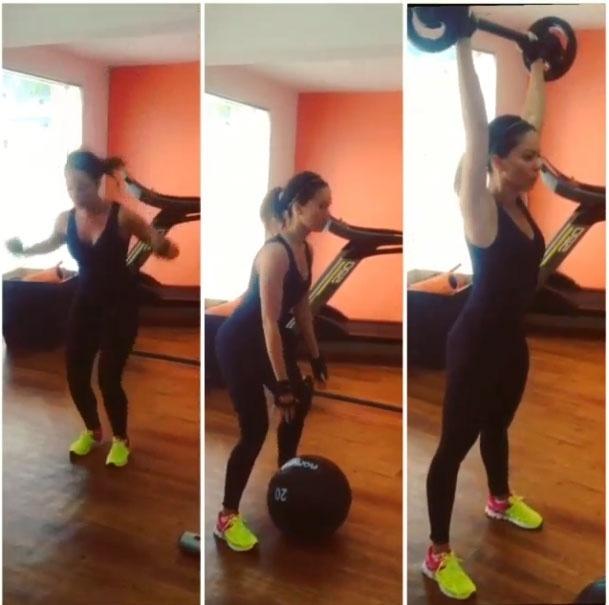 14.mar.2014 - Para manter o corpo definido, a ex-BBB Juliana Goes aposta no treinamento funcional com exercícios para definir o corpo todo