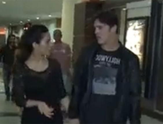 Cleo Pires e Rômulo discutem em festival de rock