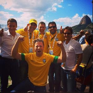 Foto postada pelo chef inglês Jamie Oliver nas redes sociais, na final da Copa do Mundo
