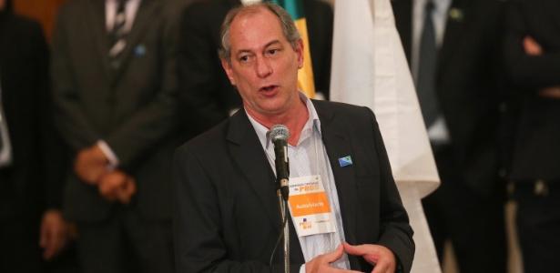 O ex-ministro Ciro Gomes (PDT), que quer sair candidato à Presidência em 2018
