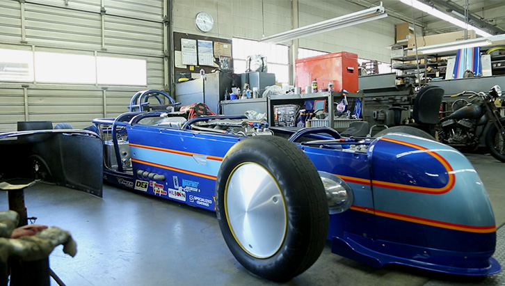 Dragster construído por Chico Kodama, presidente da Mooneyes nos EUA. (Foto: Bufalos)