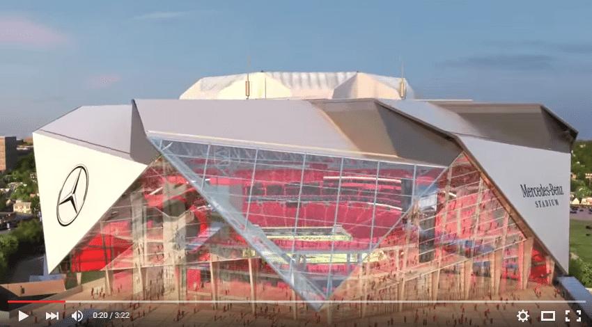 Conhe a o mercedes benz stadium nova casa do atlanta for Falcons mercedes benz stadium