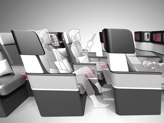 Configuração para a classe econômica dos assentos Butterfly. (Divulgação).