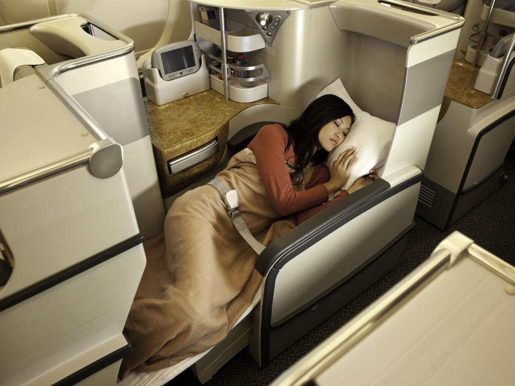 Classe executiva da Emirates (Divulgação)