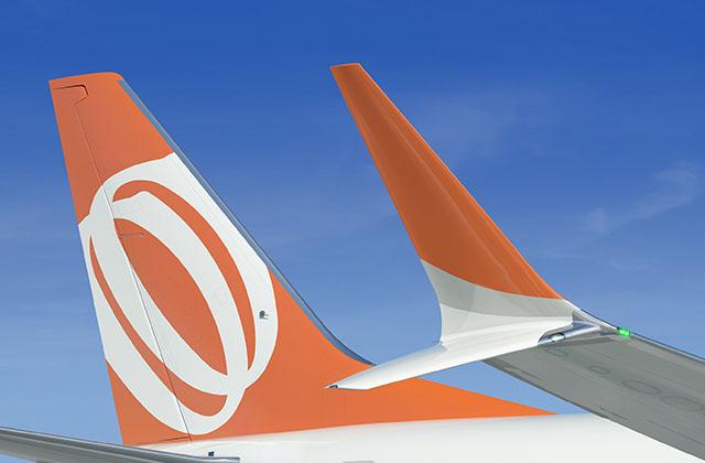 Asa tem novo design e novo winglet, que ajuda a economizar combustível (Foto: Divulgação/Boeing)