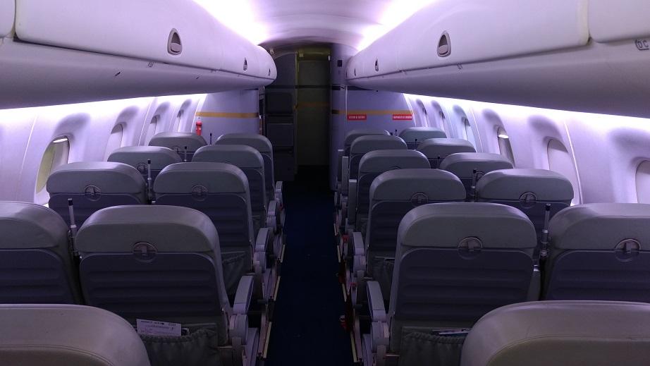 Simulador pode alterar pressão, umidade, temperatura e iluminação durante o voo (Foto: Vinícius Casagrande/UOL)