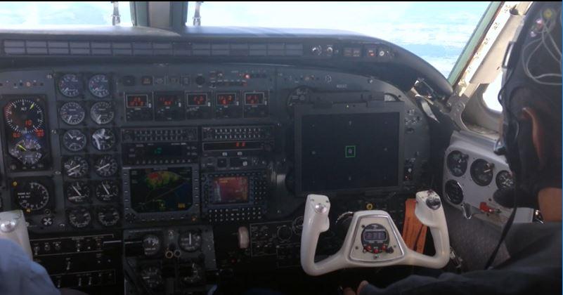 Imagem de um teste em voo realizado pela empresa (Divulgação/Honeywell)