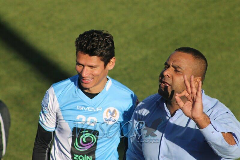 Kleyr depois de uma das partidas pelo Al-Faisaly foto: site do clube