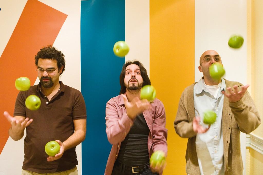 Gonçalo M. Tavares, Andrés Neuman e Eduardo Halfon.