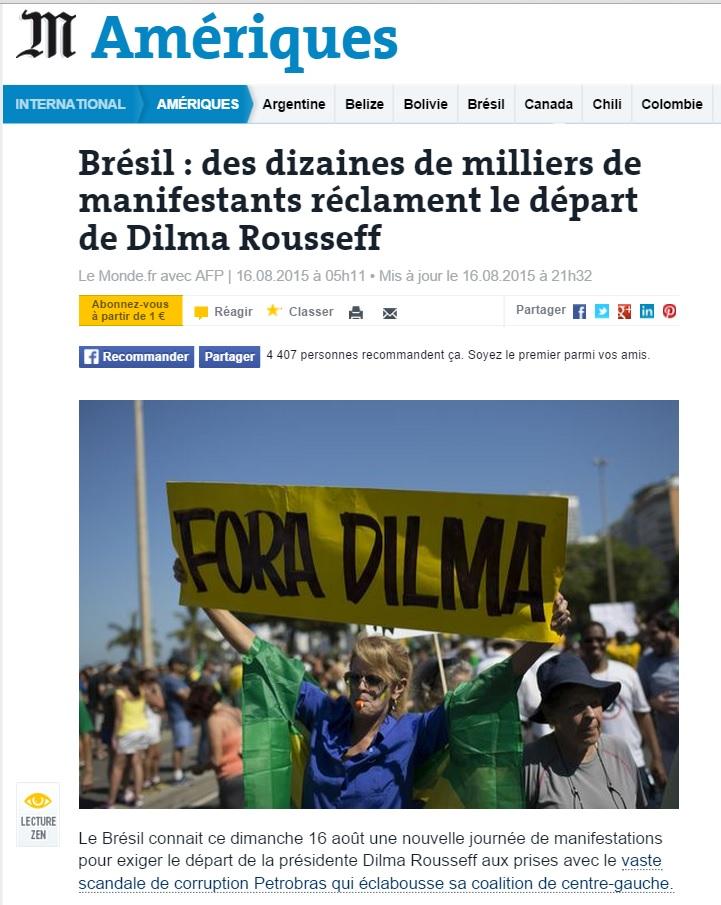 """Reportagem do """"Le Monde"""" sobre os protestos"""