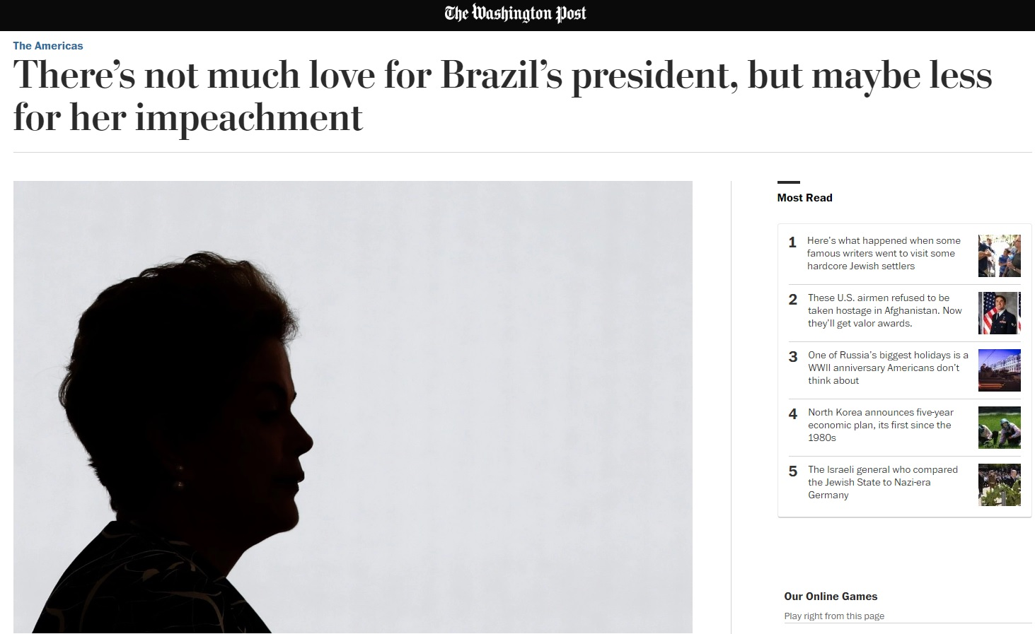 'Washington Post': Impeachment pode ser desvio rumo à disfunção política