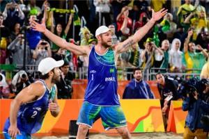 No Rio, Alison e Bruno confirmaram o favoritismo e conquistaram o ouro