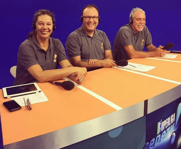 Equipe de transmissão da RedeTV! conta com Ana Moser, Marcelo do Ó e William Carvalho (Foto: Instagram)