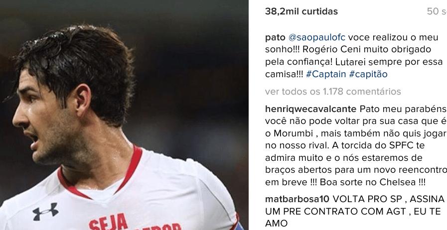 Reprodução do Instagram de Pato