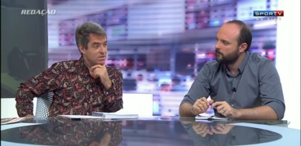 Tim Vickery (à esquerda) participou de programa no SporTV nesta quinta-feira (Crédito: Reprodução)
