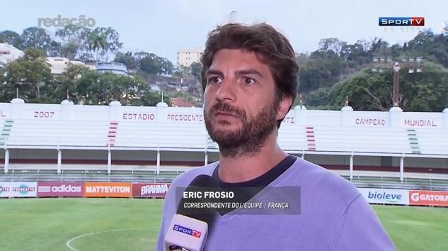 Eric Frosio, correspondente do jornal francês L'Equipe (Crédito: Reprodução)