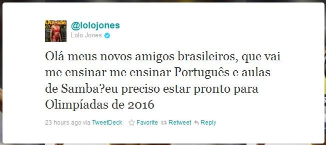 tweet lolo jones tradutor eletrônico