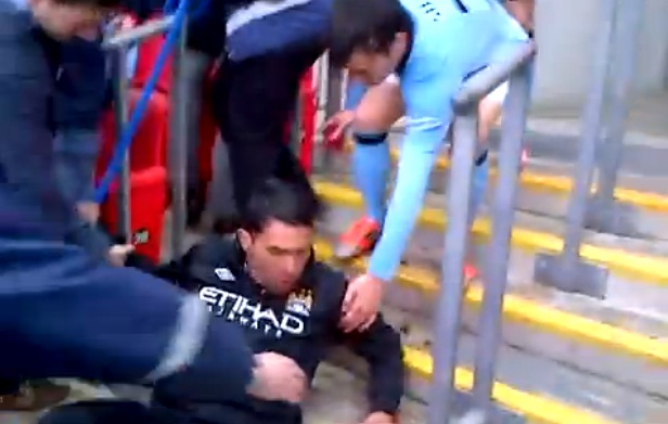 Tevez Theres a dodgy Wembley step which took down a lino & Carlos Tevez after the FA Cup final