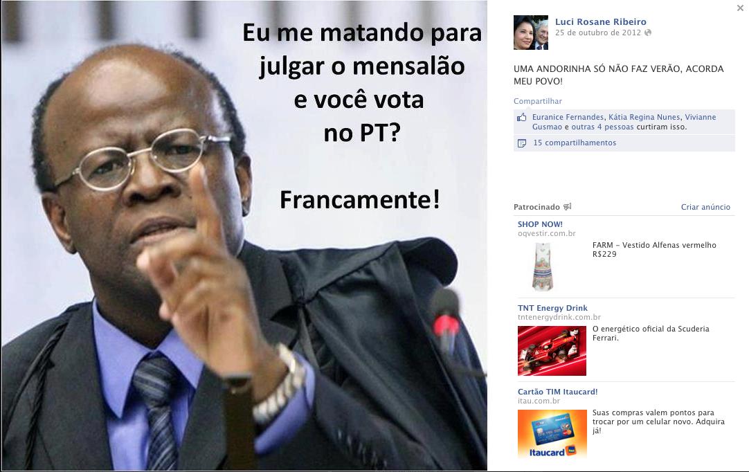 Imagem publicada pela mãe do juiz Bruno no Facebook