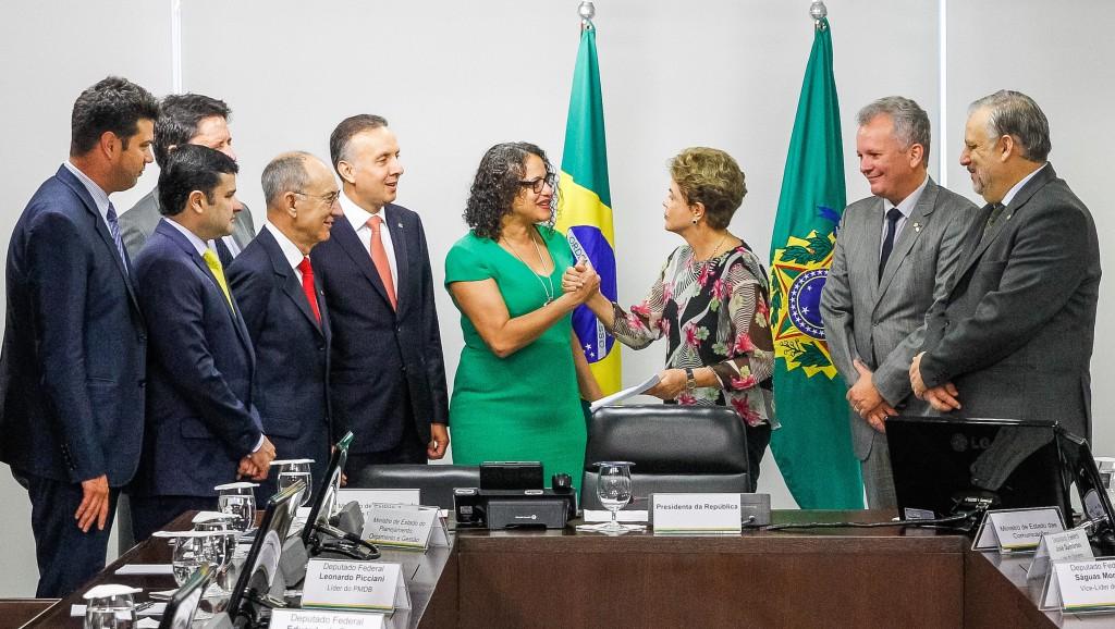 Brasília - DF, 15/09/2015. Presidenta Dilma Rousseff durante reunião líderes da base aliada na Câmara dos Deputados. Foto: Roberto Stuckert Filho/PR.