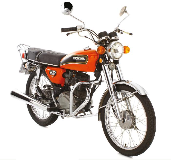 1976 - A primeira CG já veio com motor 4 tempos, 125 cc com 11 cv