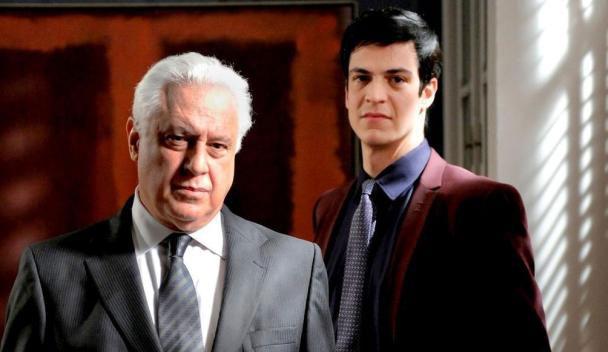 """Antônio Fagundes (César Khoury) e Mateus Solano (Félix) em """"Amor à Vida"""" (Foto: Divulgação/TV Globo)"""