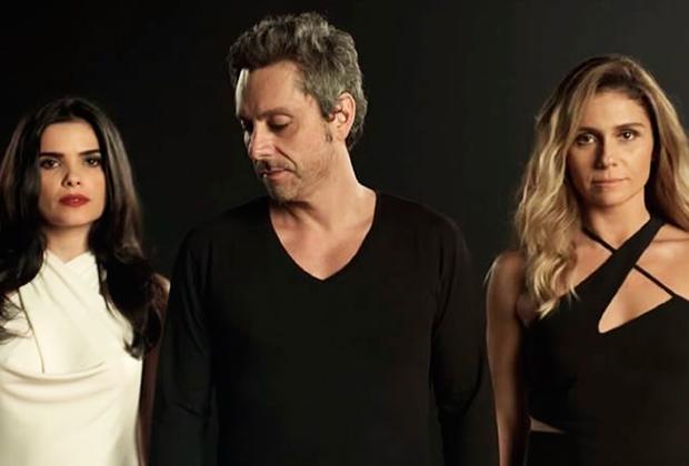 """Vanessa Giácomo, Alexandre Nero e Giovanna Antonelli na chamada de """"A Regra do Jogo"""" (Foto: Divulgação/TV Globo)"""