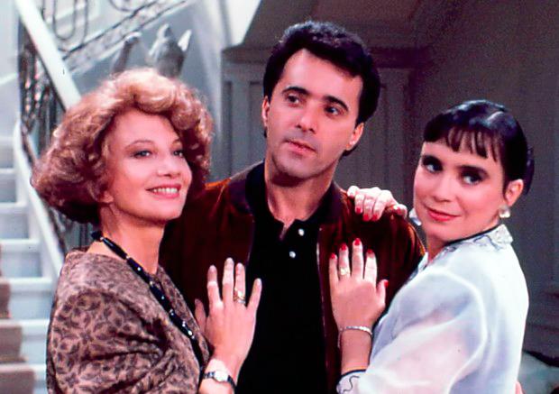 Glória Menezes, Tony Ramos e Regina Duarte (Foto: Divulgação/TV Globo)