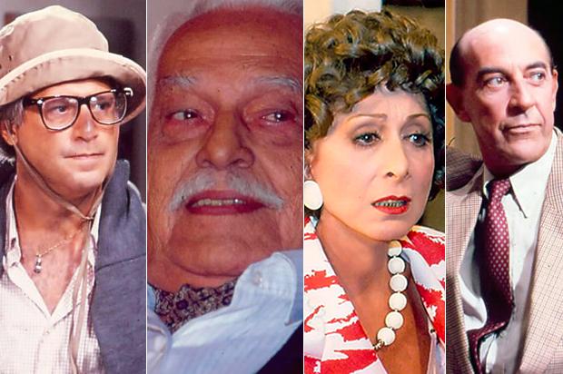 Antônio Fagundes, Paulo Gracindo, Aracy Balabanian e Raul Cortez (Foto: Divulgação/TV Globo)