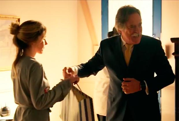 Deborah Evelyn e José de Abreu (Foto: Reprodução)