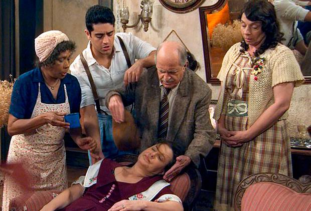 A família caipira da novela (Foto: Divulgação/TV Globo)