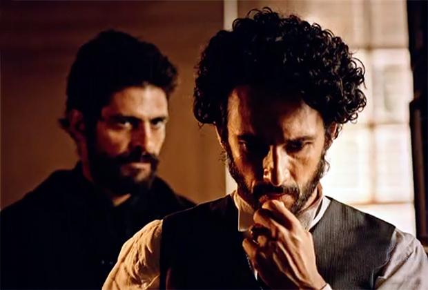Júlio Machado e Rodrigo Santoro (Foto: Reprodução)