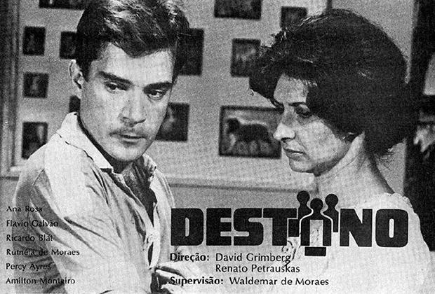 """Ricardo Blat e Ana Rosa em anúncio da primeira novela do SBT: """"Destino"""""""