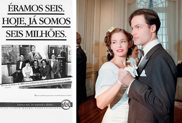 """Anúncio de """"Éramos Seis"""" / Regiane Alves e Marcos Damigo em """"Fascinação"""""""