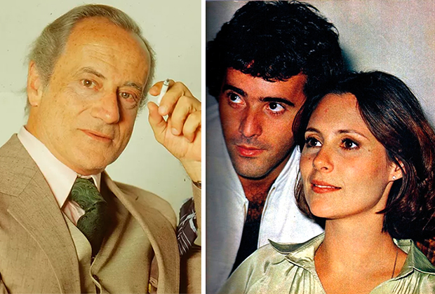 Paulo Autran / Tony Ramos e Elizabeth Savalla (Foto: Divulgação/TV Globo)