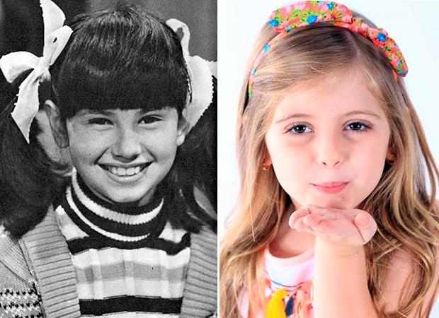 Dias versões de uma mesma Carinha de Anjo: Narjara Turetta e Lorena Queiroz (Fotos: divulgação)