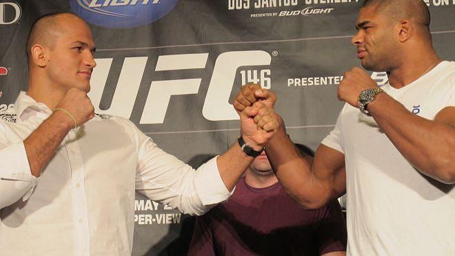 Cigano e Overeem na época em que eles se enfrentariam em 2012