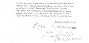 Assinatura de Eduardo Jorge