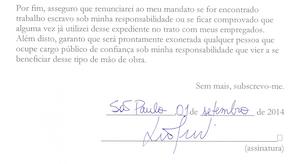Assinatura de Luciana Genro