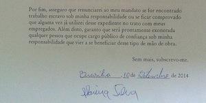 Assinatura de Marina Silva