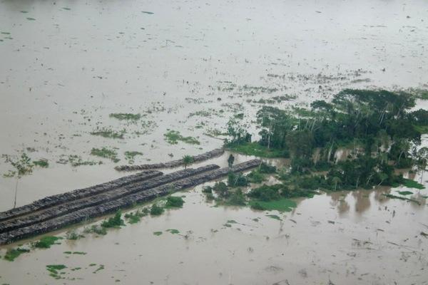Em 2012, a usina de Santo Antônio cometeu o mesmo erro: a vegetação do rio Madeira não foi retirada da área alagada