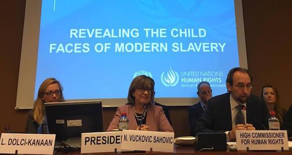 O Alto Comissário para os Direitos Humanos das Nações Unidas, Zeid Ra'ad Al Hussein (à direita). Foto: Leonardo Sakamoto
