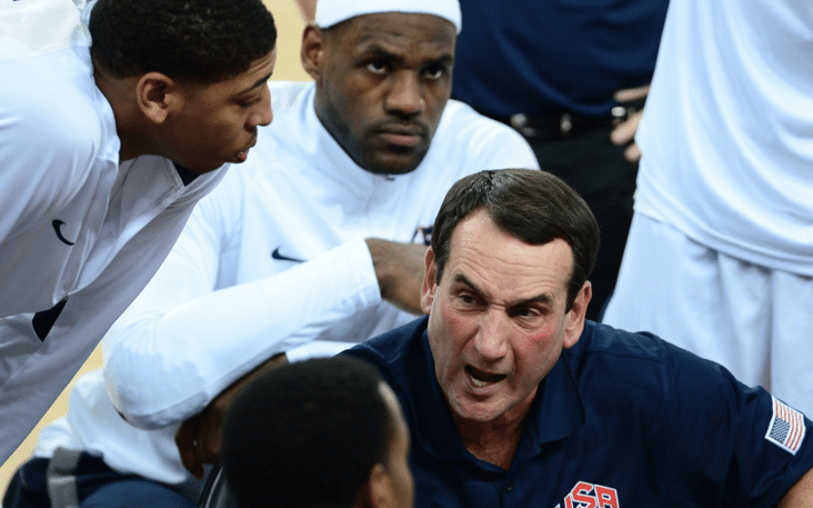 O Coach K se despede do Team USA
