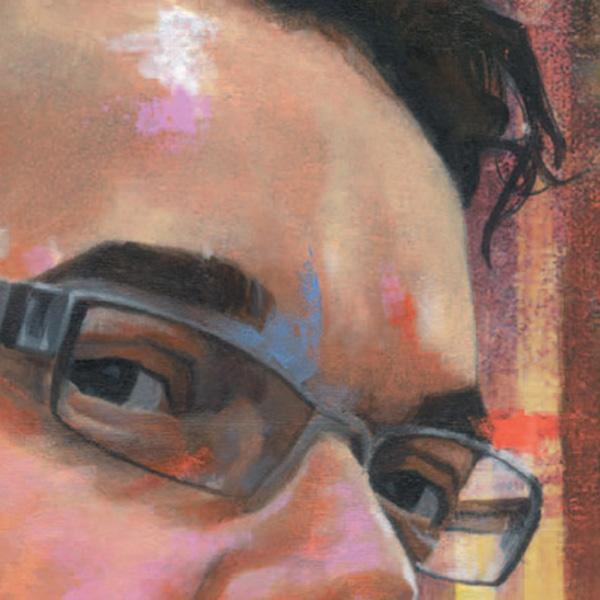 detalhe do retrato de marcelo martinez